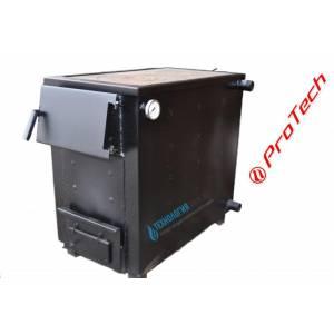 Котел твердотопливный универсальный ProTech ТТП 18с Д Luxe ПБ Оптима 3 мм с плитой