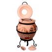 """Печь тандыр """"дизайн """"Японский"""" 45 литров с решеткой лопаткой и кочергой в комплекте"""