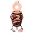 """Печь тандыр """"дизайн """"Кирпич"""" 50 литров с решеткой лопаткой и кочергой в комплекте"""