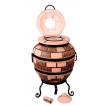 """Печь тандыр """"дизайн """"Кирпич"""" 65 литров с решеткой лопаткой и кочергой в комплекте"""