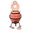 """Печь тандыр """"дизайн """"Вышиванка"""" 45 литров с решеткой лопаткой и кочергой в комплекте"""