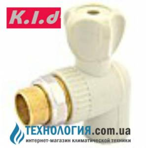 """Угловой радиаторный шаровый кран K.l.d  20x1/2"""" c американкой"""