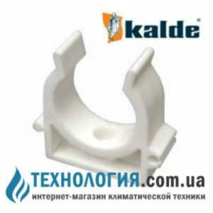 Крепление для труб Kalde одинарное *U* - типа диаметр 20 мм, цвет белый