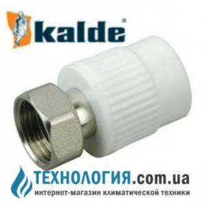 """Муфта комбинированная Kalde с накидной гайкой 20x1/2"""", цвет белый"""