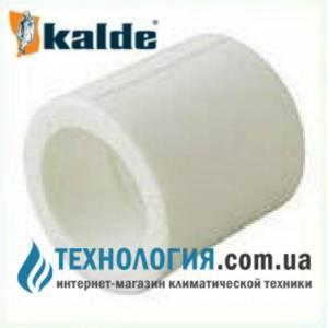 Муфта Kalde соединительная с равными диаметрами д. 20 мм, цвет белый