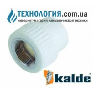 """Муфта комбинированная Kalde с внутренней резьбой 20x1/2"""", цвет белый"""
