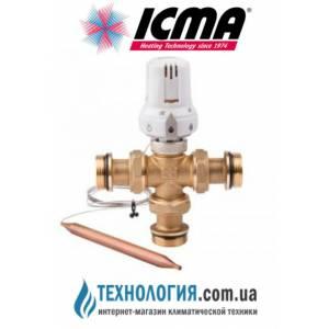 Трехходовой смеситель с погружным датчиком Icma, диапазон регулировки 60-90°C