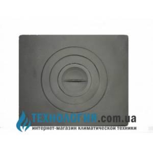Плита чугунная 1 комфорочная 400х400 ( земля) печная