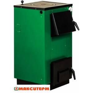 Котел комбинированный твердотопливный Макситерм Lux 15П,электро-твердотопливный,варочная плита,сталь 3 мм