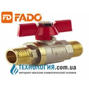 Кран шаровый FADO Classic PN40 15 1/2'' НН ручка бабочка хромированный латунный усиленный