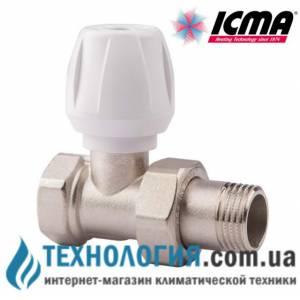 """Ручной радиаторный вентиль простой регулировки прямой 3/4"""" Icma"""