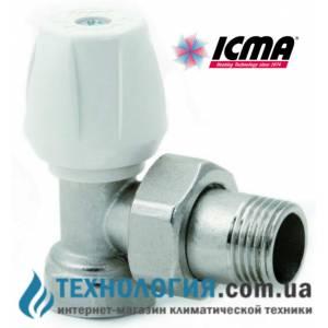 """Ручной радиаторный вентиль простой регулировки угловой 1/2"""" Icma"""