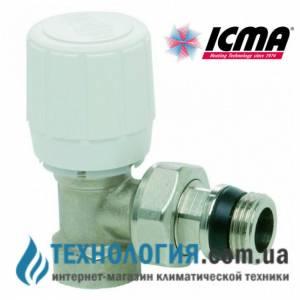 Терморегулирующий вентиль прямой 3/4 с резьбой  28 х 1,5, с возможностью установки термоголовки