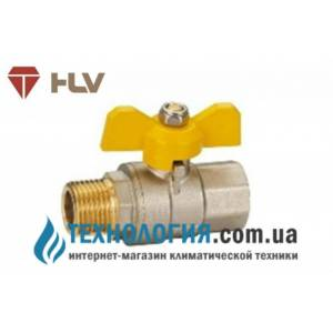 Кран шаровый HLV Gas 1'' вн кран бабочка