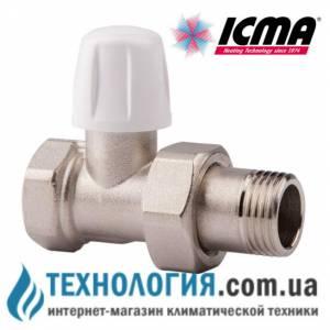 """Прямой радиаторный нижний вентиль 1/2"""" Icma"""