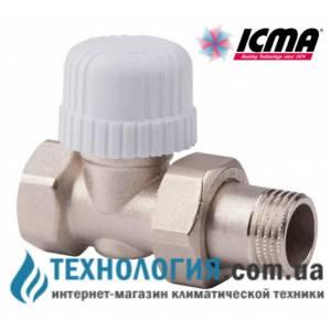 Термостатический радиаторный кран ICMA прямой 1/2  с резьбой 30 х 1,5