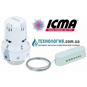 Термостатическая головка для терморегулирующих и термостатических вентилей ICMA  жидкостный элемент, с резьбой 28 х 1,5