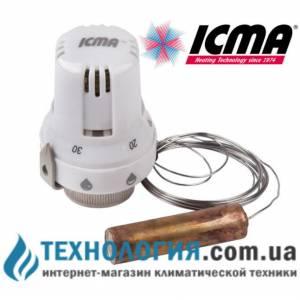 Термостатическая головка с выносным датчиком ICMA  жидкостный элемент, шкала регулировки 20-50 С с резьбой 30 х 1,5