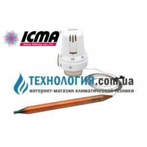 Термостатическая головка с выносным датчиком ICMA  жидкостный элемент, шкала регулировки 20-70 С с резьбой 30 х 1,5