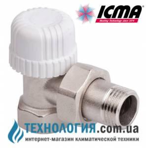 Термостатический радиаторный кран ICMA угловой 1/2  с резьбой 30 х 1,5