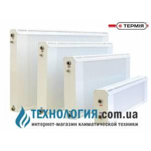 Панельный медно алюминиевый радиатор отопления Термия РБ 20/100 боковое подключение