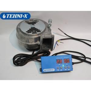 Турбина + программатор (комплект) Tehni-x для твердотопливных котлов малой и средней мощности