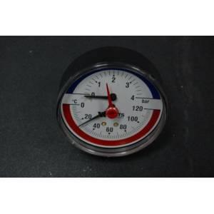 Термоманометр для твёрдотопливных и газовых котлов WATTS