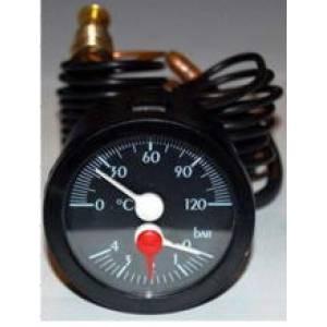 Термоманометр со встроиными датчиками температуры и давления pn4ø50 3/8