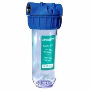 Колба для фильтра очистки воды Насосы плюс оборудование FE10-3/4b, прозрачная