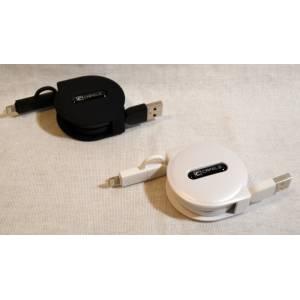 Самостматывающийся кабель для зарядки мобильных устройств