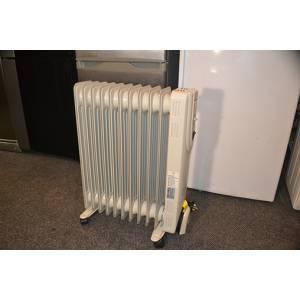 Масляный радиатор HD 907-11Q 10 секций мощность 2,73 кВт белого цвета