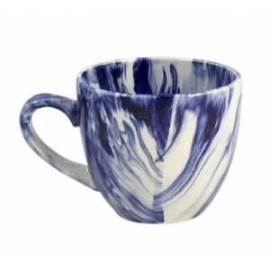 Комплект керамических чашек «Одесса» радуга кобальт от 6 шт