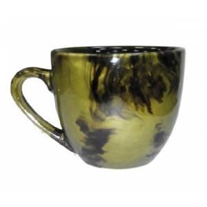 Комплект керамических чашек радуга малахит от 6 шт