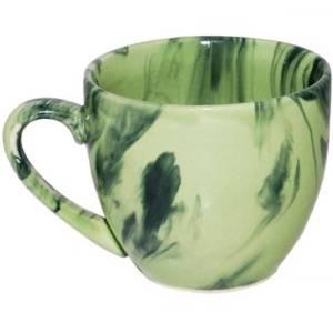 Комплект керамических чашек «Одесса» радуга зеленая от 6 шт