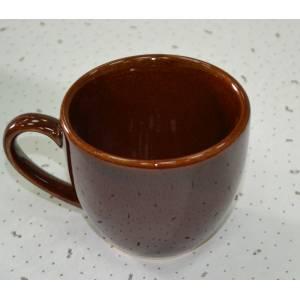 Комплект керамических чашек «Одесса» коричневая от 6 шт
