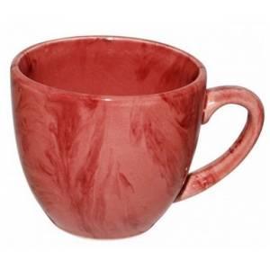Комплект керамических чашек «Одесса» радуга розовая от 6 шт