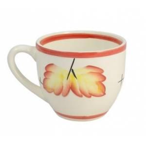 Комплект керамических чашек «Одесса» рисовка осень красная от 6 шт