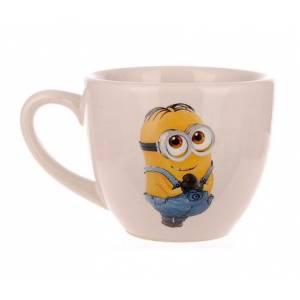 Комплект керамических чашек «Одесса» снежка с деколью Миньон от 6 шт