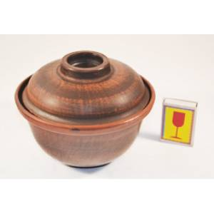 Глиняная пиала с крышкой обьем 0.6 л арт.2Б