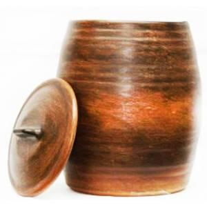 Глиняная бочка гончарная обьем 5 л арт.0017