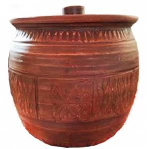 Глиняная бочка гончарная обьем 10 л арт.0018
