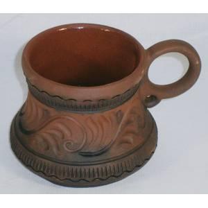 Глиняная кружка арт-612 обьем 0,2 л