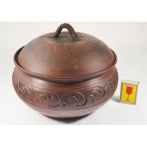 Глиняная жаровня большая обьем 4 л арт.11Б