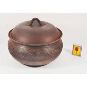 Глиняная жаровня средняя обьем 2 л арт.10Б