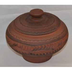 Глиняный горшок арт-422 обьем 0,8 л