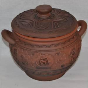 Глиняный горшок арт-431 обьем 1,7 л
