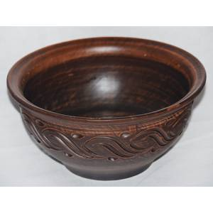 Глиняная кисе гончарная резная обьем 1.2 л арт.0026
