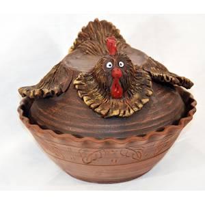 Глиняная курица обьем 4 л арт.0053