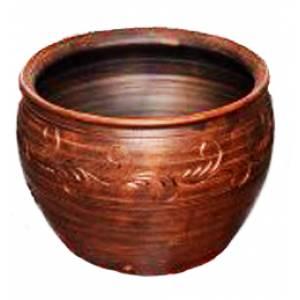 Глиняная макитра гончарная обьем 2 л арт.0015