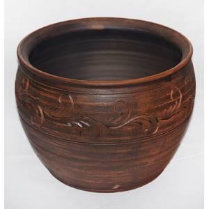 Глиняная макитра гончарная обьем 3 л арт.0014